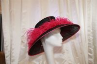 Stunning black and fuchsia pink hat 13972 SD17